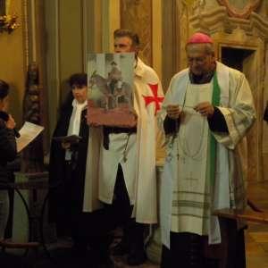 Biskup Susa Jego Ekscelencja Monsignore Confalonieri na Rogacji (pielgrzymka modlitewna) Suzy – 7 kwietnia 2018 r.